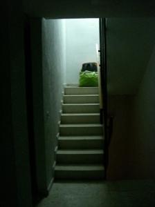 Eine Nacht im Treppenhaus