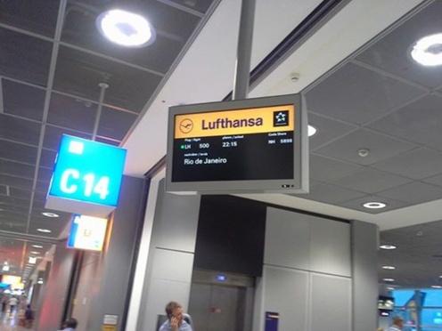 Mein Flug nach Rio de Janeiro