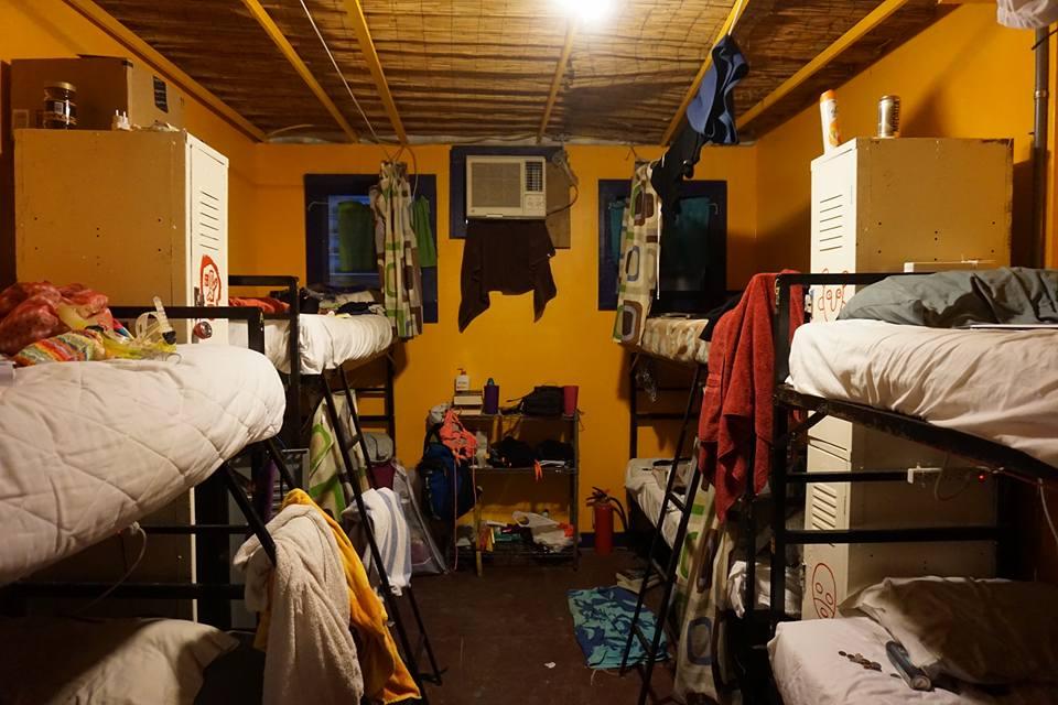 """Unser """"Zimmer"""" im Hostel."""